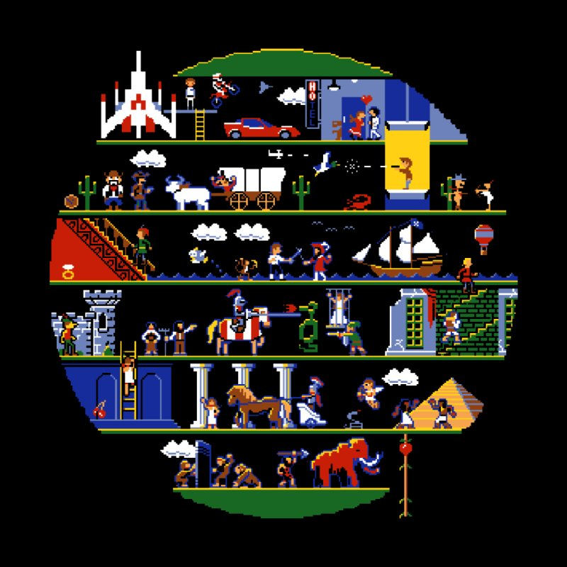 8-bit History of the World None  by jmg's Artist Shop