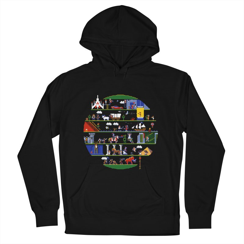 8-bit History of the World Men's Pullover Hoody by jmg's Artist Shop