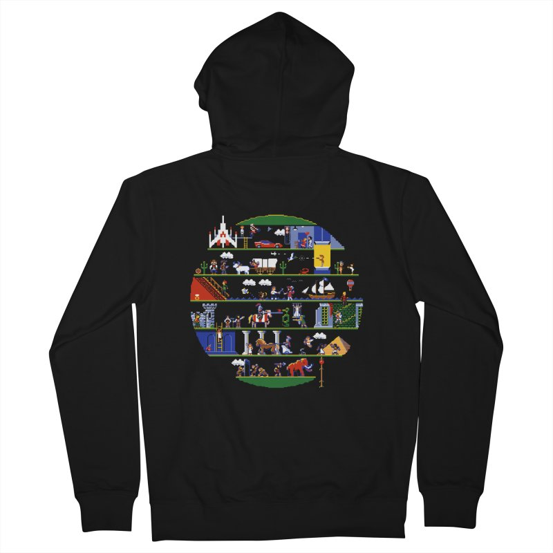 8-bit History of the World Men's Zip-Up Hoody by jmg's Artist Shop