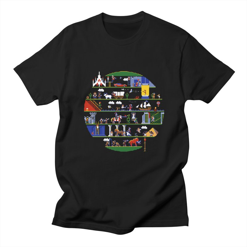 8-bit History of the World Men's T-shirt by jmg's Artist Shop