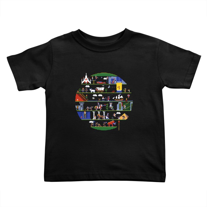8-bit History of the World Kids Toddler T-Shirt by jmg's Artist Shop