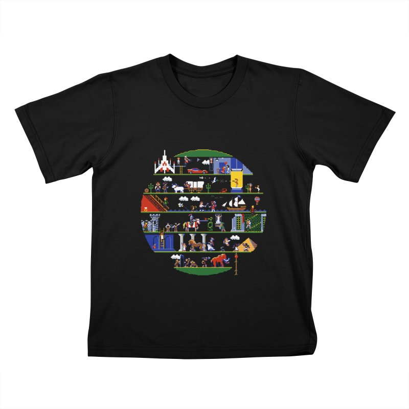 8-bit History of the World Kids T-Shirt by jmg's Artist Shop
