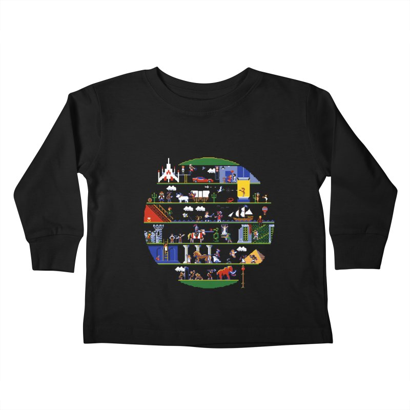 8-bit History of the World Kids Toddler Longsleeve T-Shirt by jmg's Artist Shop