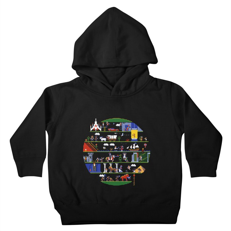 8-bit History of the World Kids Toddler Pullover Hoody by jmg's Artist Shop