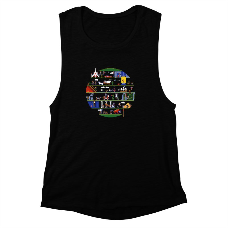 8-bit History of the World Women's Muscle Tank by jmg's Artist Shop