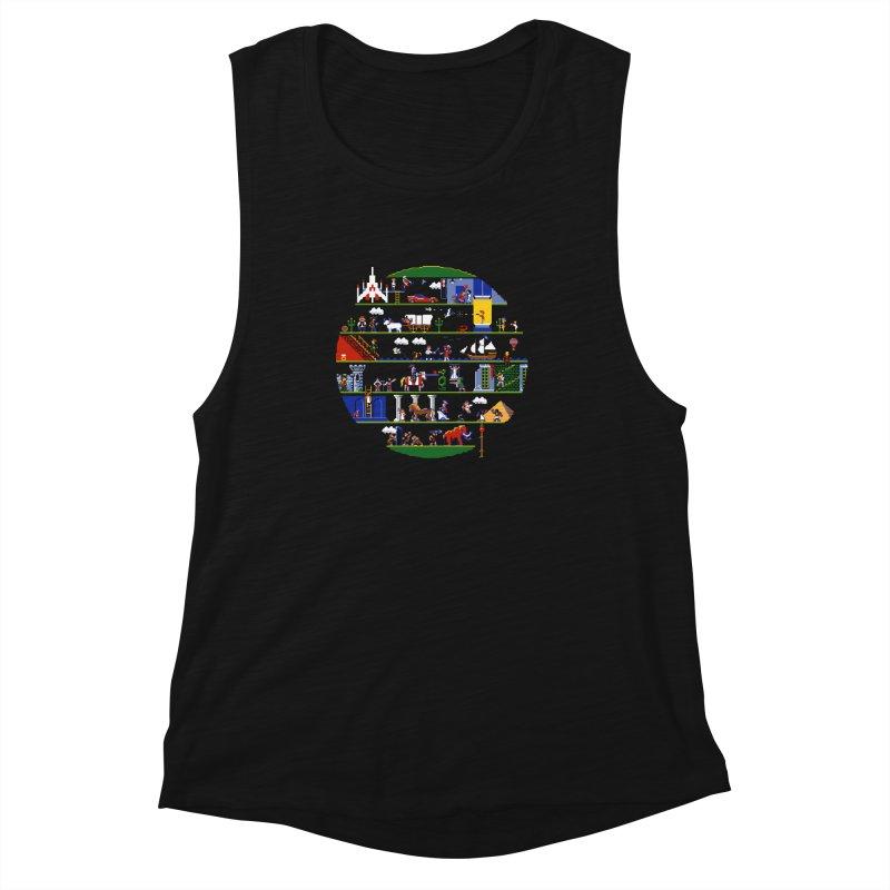 8-bit History of the World Women's Muscle Tank by jmg's Artist Shop
