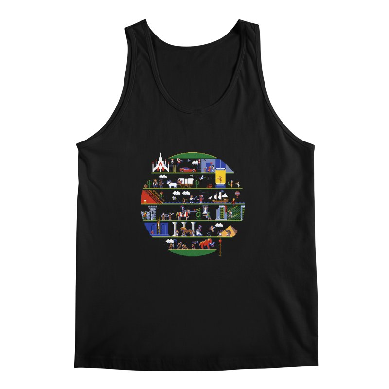 8-bit History of the World Men's Tank by jmg's Artist Shop