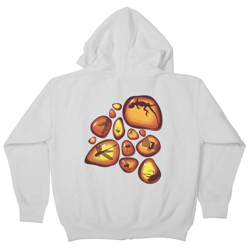 Amber Kids Zip-Up Hoody by jmg's Artist Shop