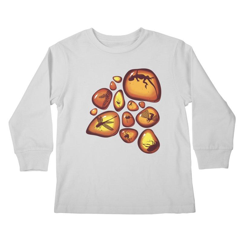 Amber Kids Longsleeve T-Shirt by jmg's Artist Shop