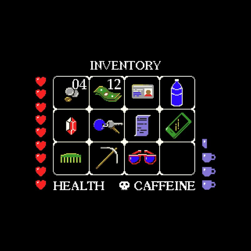 8-bit Inventory by jmg's Artist Shop