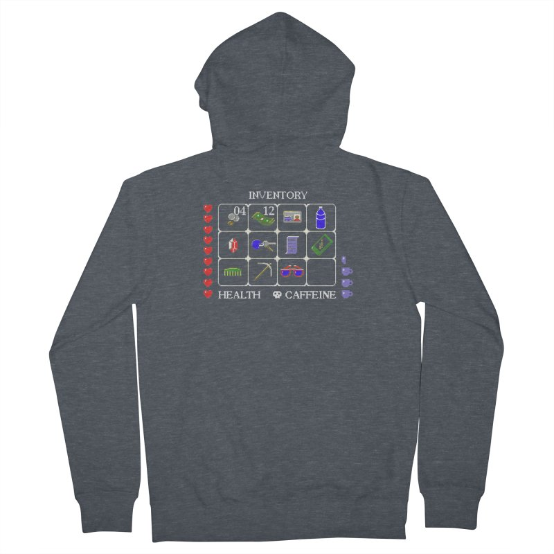 8-bit Inventory Men's Zip-Up Hoody by jmg's Artist Shop