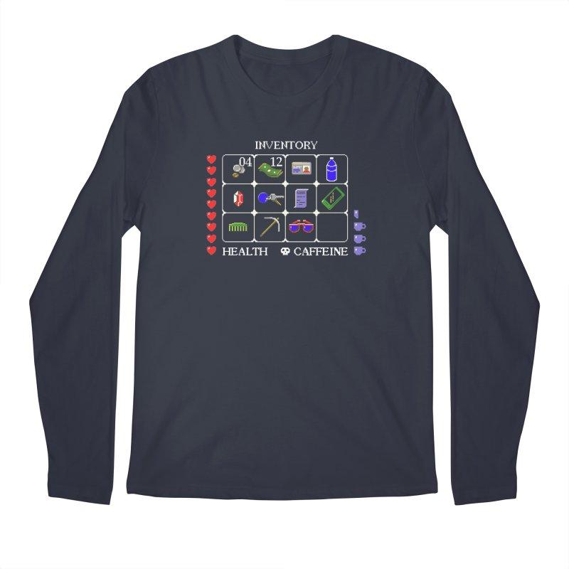 8-bit Inventory Men's Longsleeve T-Shirt by jmg's Artist Shop