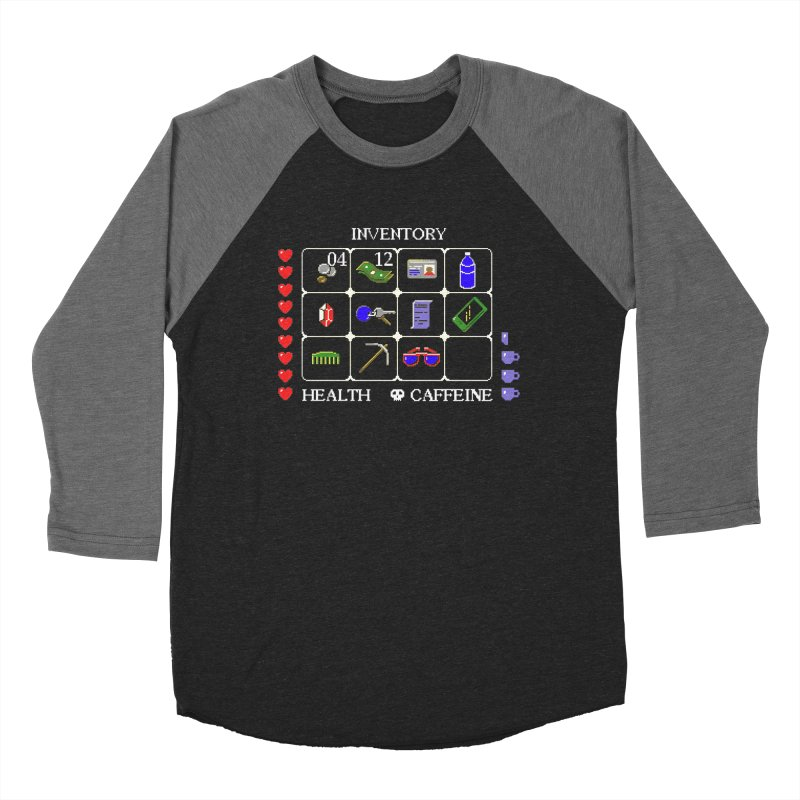 8-bit Inventory Men's Baseball Triblend T-Shirt by jmg's Artist Shop