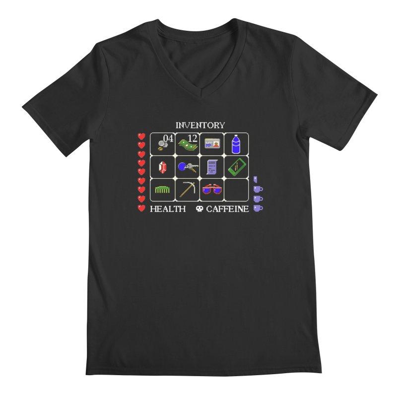 8-bit Inventory Men's V-Neck by jmg's Artist Shop