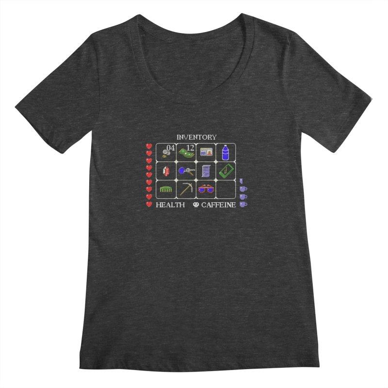 8-bit Inventory Women's Scoopneck by jmg's Artist Shop