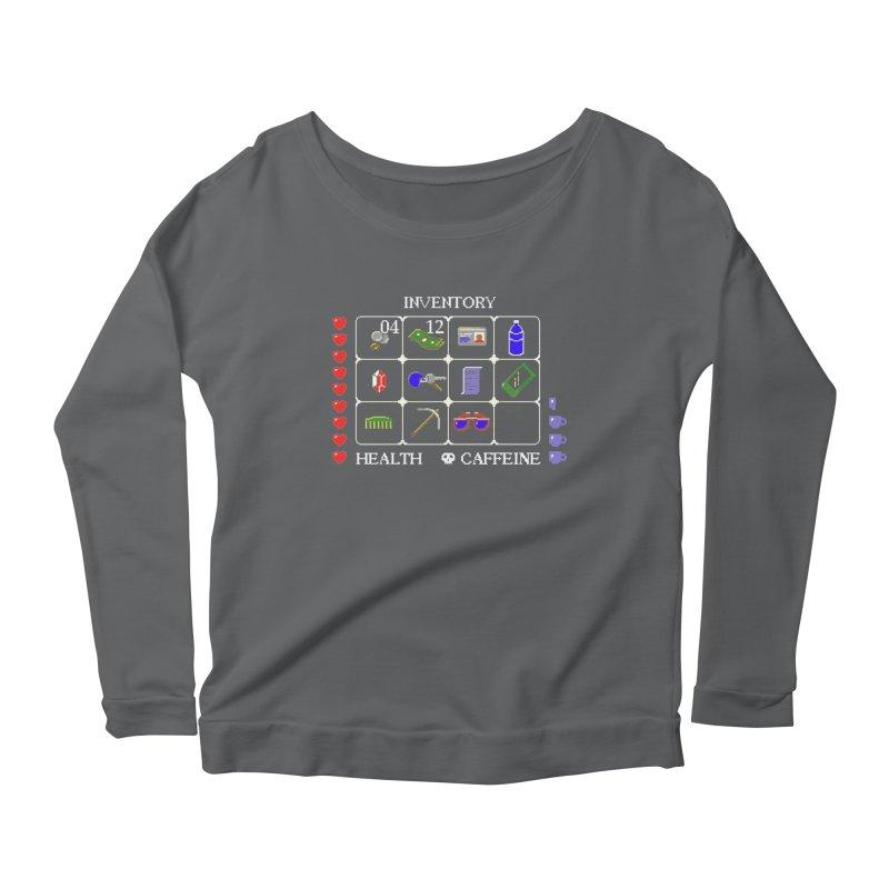8-bit Inventory Women's Longsleeve Scoopneck  by jmg's Artist Shop