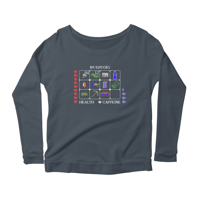 8-bit Inventory Women's Longsleeve Scoopneck  by jmg's Artist Shop
