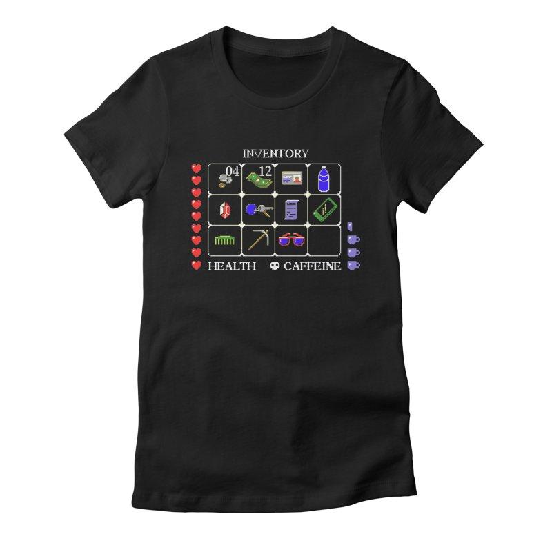 8-bit Inventory Women's Fitted T-Shirt by jmg's Artist Shop