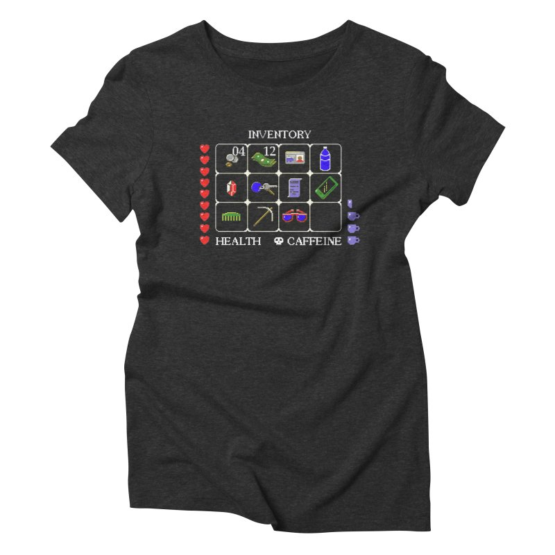 8-bit Inventory Women's Triblend T-shirt by jmg's Artist Shop