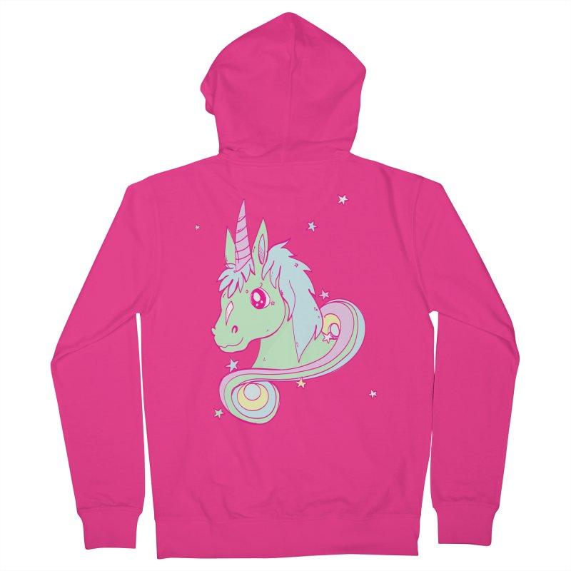 Unicorn mix Men's Zip-Up Hoody by JMK's Artist Shop