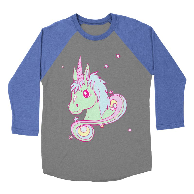 Unicorn mix Women's Baseball Triblend T-Shirt by JMK's Artist Shop