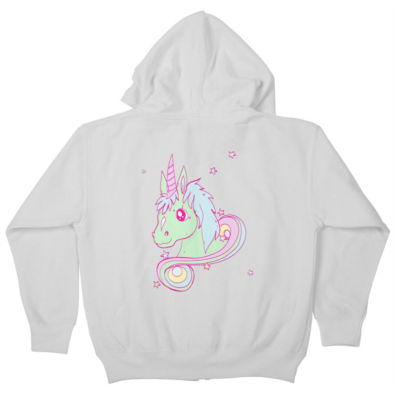 Unicorn mix Kids Zip-Up Hoody by JMK's Artist Shop