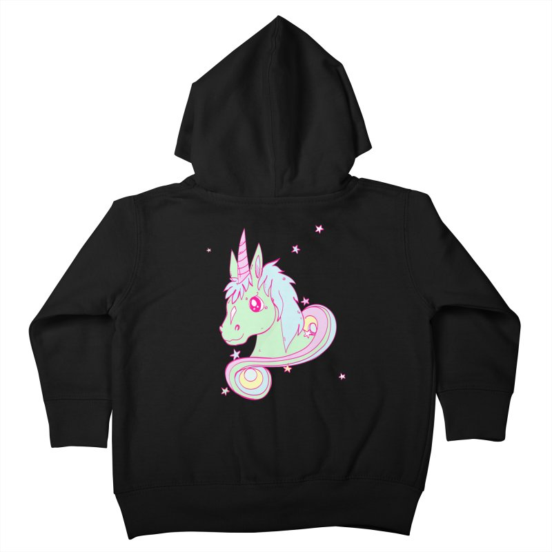 Unicorn mix Kids Toddler Zip-Up Hoody by JMK's Artist Shop