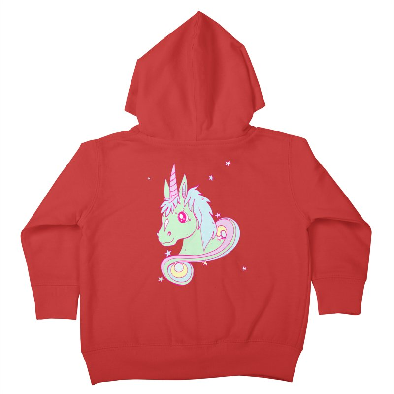 Unicorn mix Kids Toddler Zip-Up Hoody by JMK's Artist Shop
