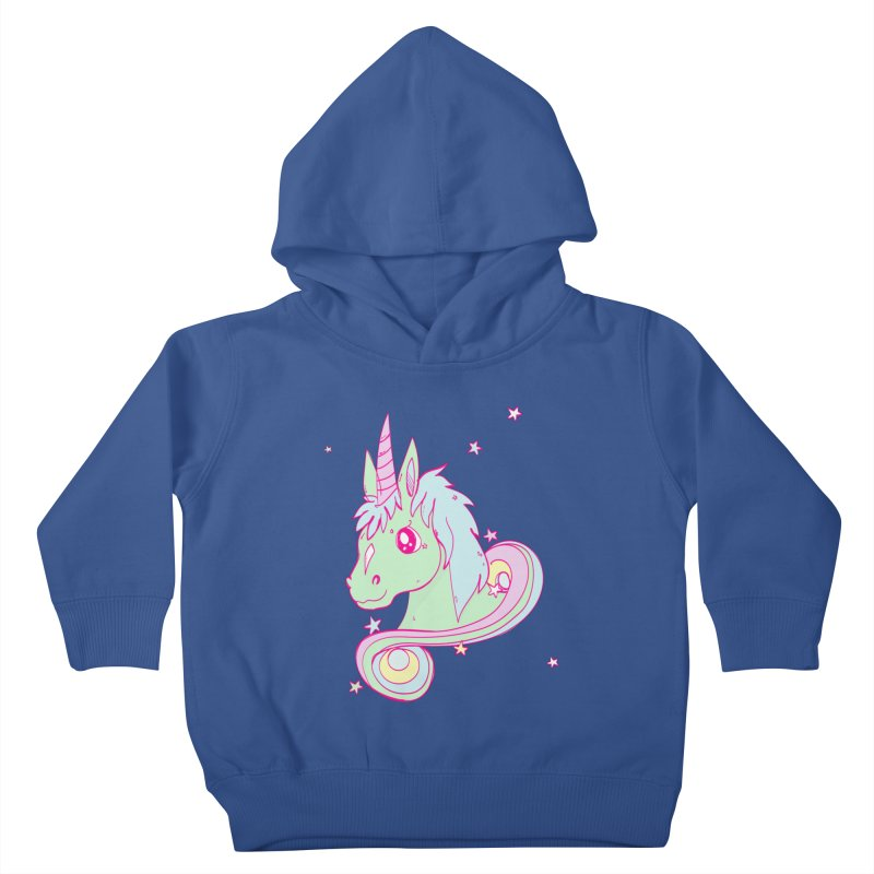 Unicorn mix Kids Toddler Pullover Hoody by JMK's Artist Shop