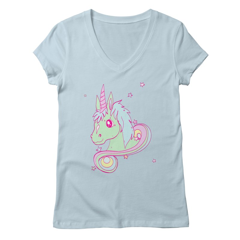 Unicorn mix Women's V-Neck by JMK's Artist Shop