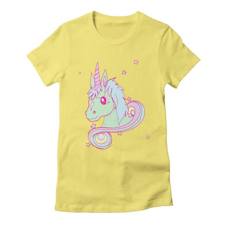 Unicorn mix Women's Fitted T-Shirt by JMK's Artist Shop