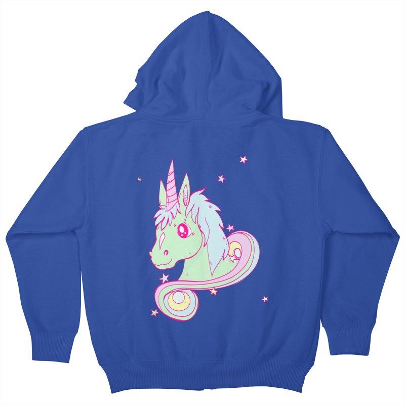 Unicorn mix Kids Zip-Up Hoody by JMK's Artist Shop