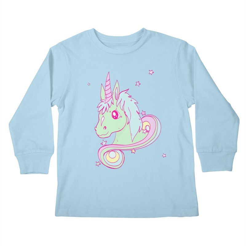 Unicorn mix Kids Longsleeve T-Shirt by JMK's Artist Shop
