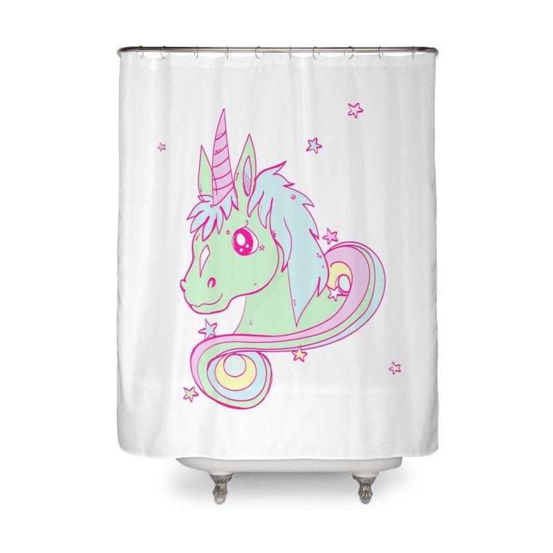 Unicorn mix Home Shower Curtain by JMK's Artist Shop