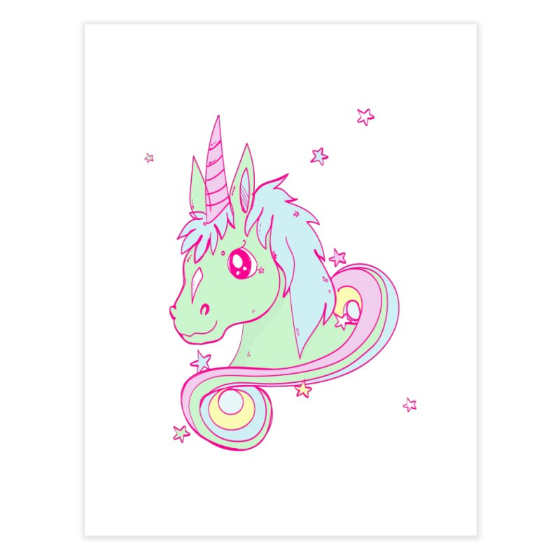 Unicorn mix Home Fine Art Print by JMK's Artist Shop