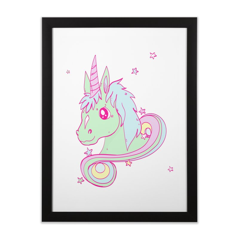 Unicorn mix Home Framed Fine Art Print by JMK's Artist Shop