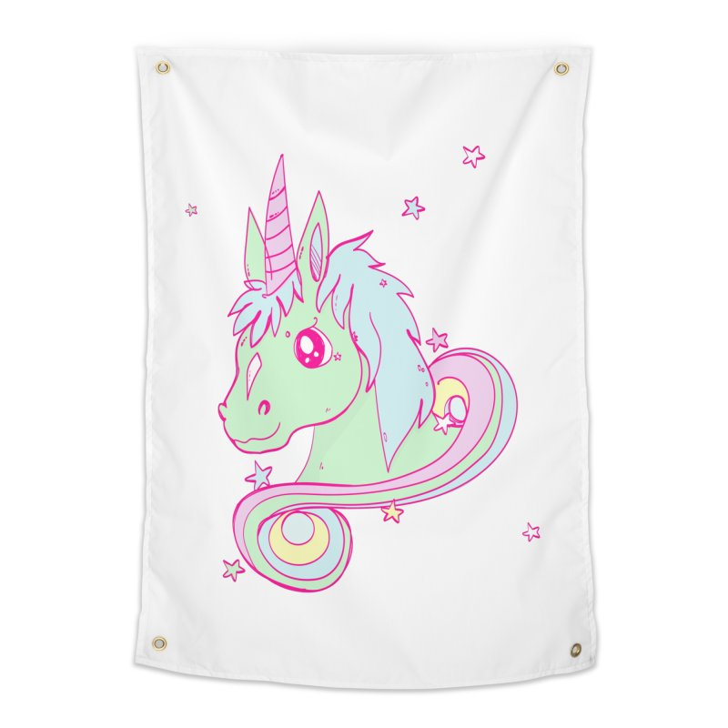 Unicorn mix Home Tapestry by JMK's Artist Shop
