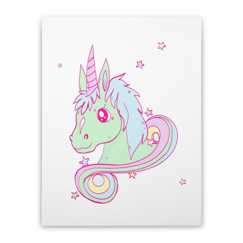 Unicorn mix Home Stretched Canvas by JMK's Artist Shop