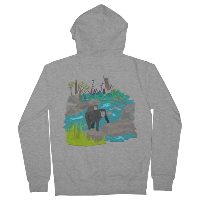 Gorillas Women's Zip-Up Hoody by JMK's Artist Shop