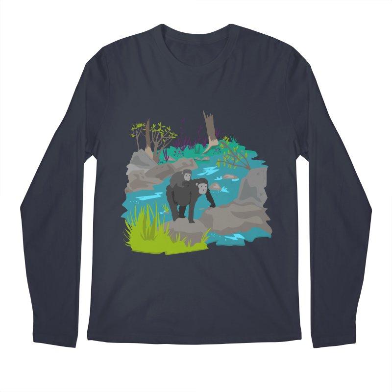 Gorillas Men's Longsleeve T-Shirt by JMK's Artist Shop