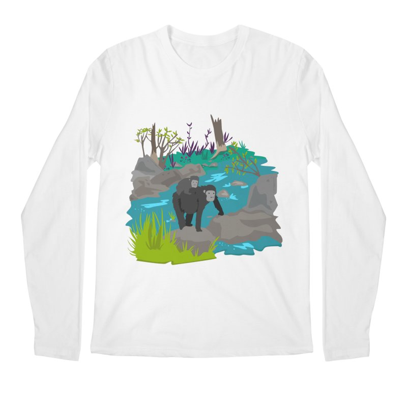 Gorillas Men's Longsleeve T-Shirt by JMK's Artist Shop