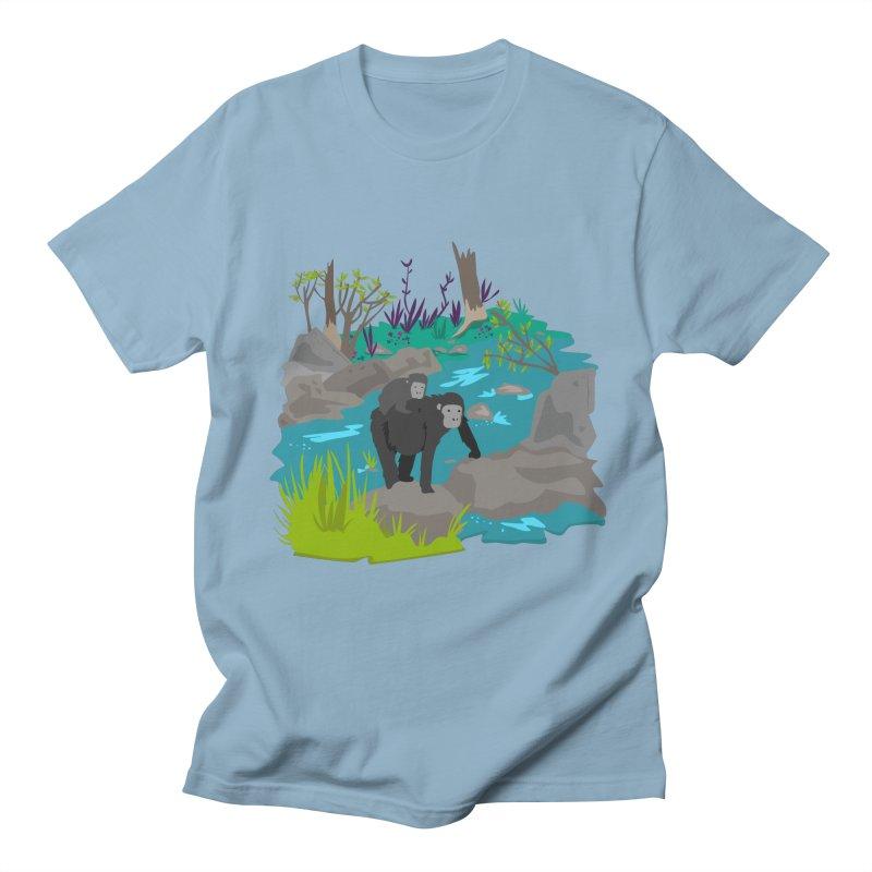 Gorillas Women's Unisex T-Shirt by JMK's Artist Shop