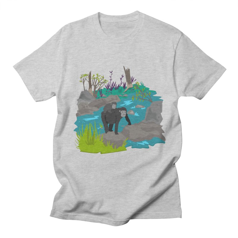 Gorillas Women's Unisex T-Shirt by JMK's Artist Shop
