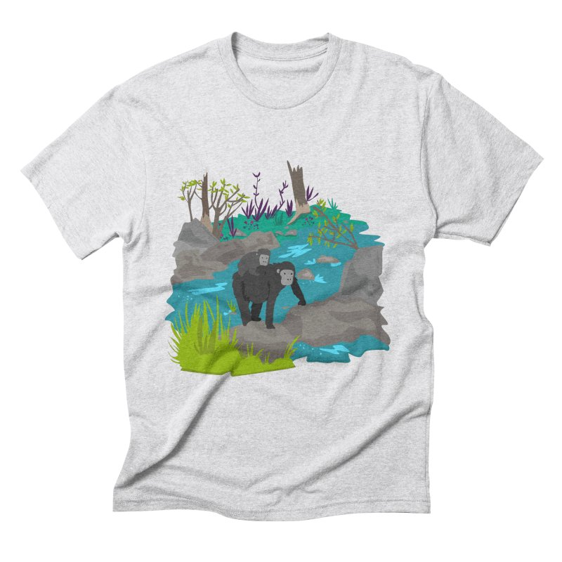 Gorillas Men's Triblend T-shirt by JMK's Artist Shop