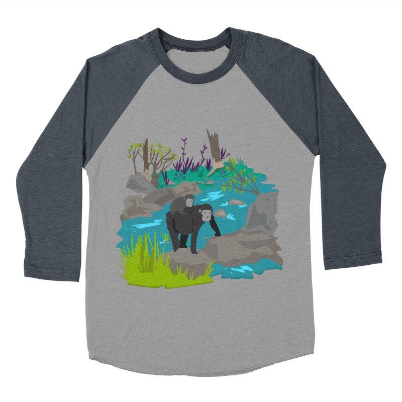 Gorillas Women's Baseball Triblend T-Shirt by JMK's Artist Shop