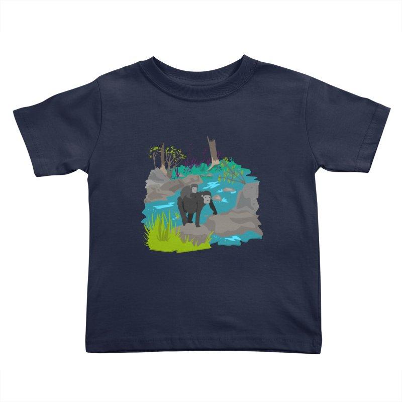 Gorillas Kids Toddler T-Shirt by JMK's Artist Shop