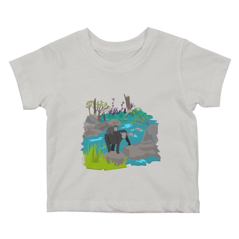 Gorillas Kids Baby T-Shirt by JMK's Artist Shop