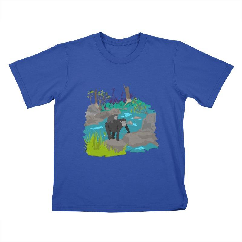 Gorillas Kids T-shirt by JMK's Artist Shop