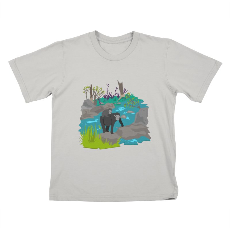Gorillas Kids T-Shirt by JMK's Artist Shop