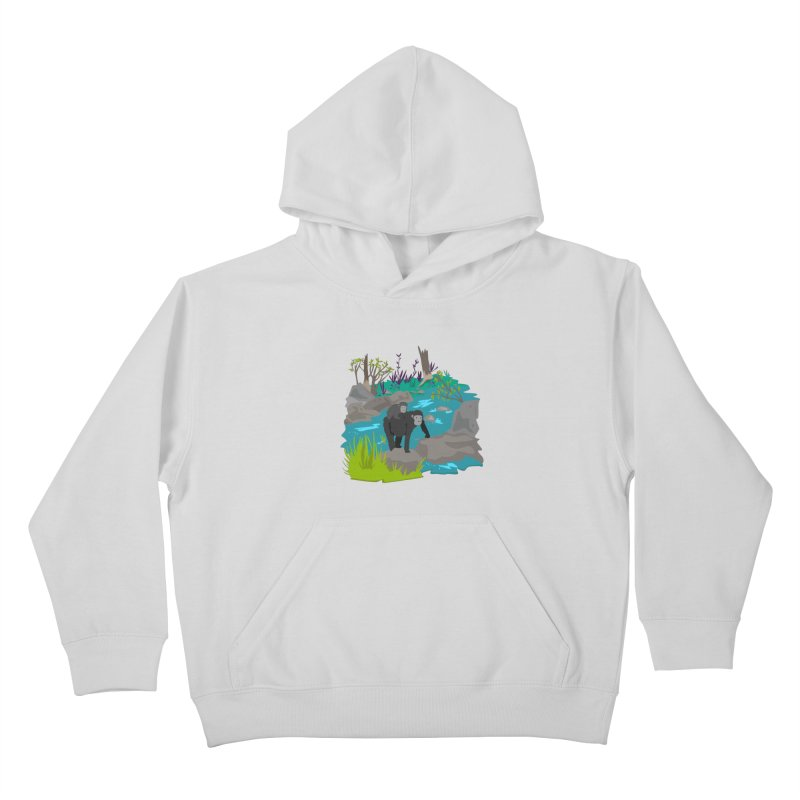 Gorillas Kids Pullover Hoody by JMK's Artist Shop